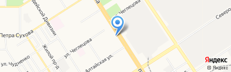 Нотариус Тарасов А.Е. на карте Барнаула
