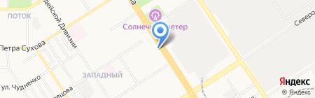 АРОН-Инвест на карте Барнаула