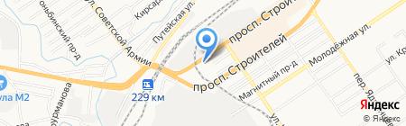 АЗС Роснефть на карте Барнаула