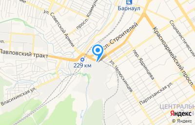 Местоположение на карте пункта техосмотра по адресу г Барнаул, ул Победная, д 203