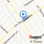 Альбина на карте Барнаула