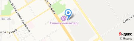 Оргремстрой на карте Барнаула