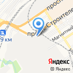 Зодчий на карте Барнаула