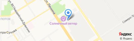 Атлант на карте Барнаула