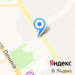 Вектор на карте Барнаула