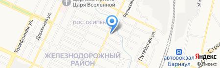 ХАДО на карте Барнаула