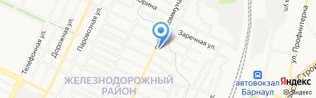 Хозяйственный магазин на карте Барнаула