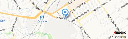 Спика на карте Барнаула
