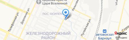 Гралси на карте Барнаула