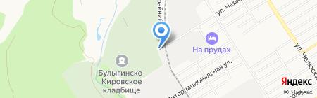 Булыгинское кладбище на карте Барнаула