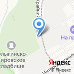 Булыгинско-Кировское на карте Барнаула