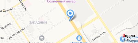 География на карте Барнаула