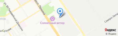 Автотяга на карте Барнаула