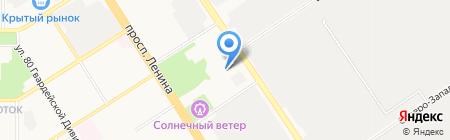 Антей-Динамо на карте Барнаула