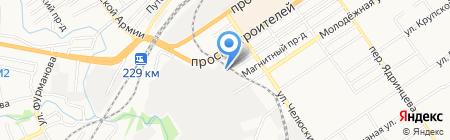 Сибиряк на карте Барнаула