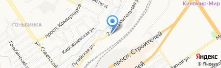Факел на карте Барнаула