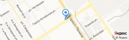 Моден на карте Барнаула