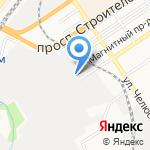 Пантомед на карте Барнаула