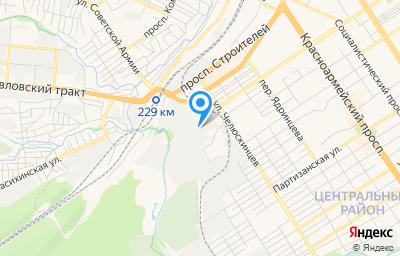 Местоположение на карте пункта техосмотра по адресу г Барнаул, ул Шевченко, д 172