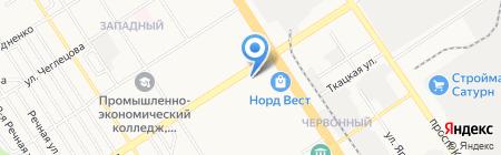 Червонная на карте Барнаула