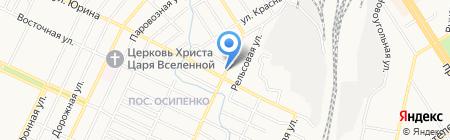 Водолей на карте Барнаула
