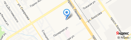 Адельфо на карте Барнаула
