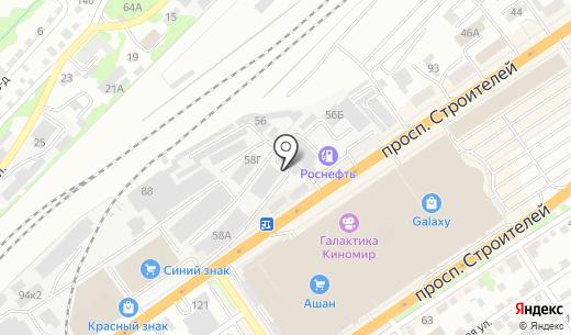 Торговая компания. Схема проезда в Барнауле