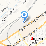 Дюйм на карте Барнаула