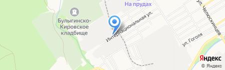 Европейские транспортные системы на карте Барнаула