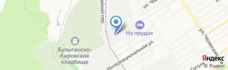 ПЭК на карте Барнаула
