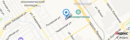 Городская больница №9 на карте Барнаула