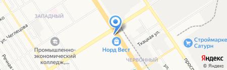Сеть платежных терминалов БИНБАНК ПАО на карте Барнаула