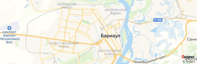 Барнаул на карте