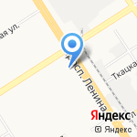 Парикмахерская эконом-класса на карте Барнаула
