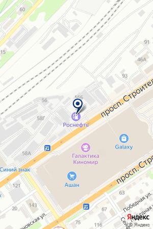 АЗС №249 РОСНЕФТЬ - АЛТАЙНЕФТЕПРОДУКТ на карте Барнаула