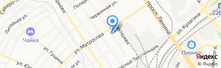 Установочный центр на карте Барнаула