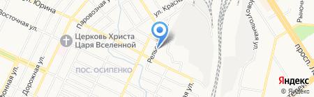 Лива на карте Барнаула