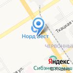 Пивная миля на карте Барнаула