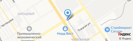 Аня на карте Барнаула