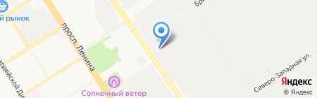 Ирэн на карте Барнаула