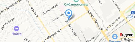 Вольфа на карте Барнаула