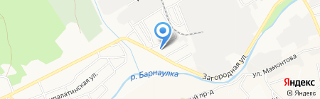 Элегия на карте Барнаула