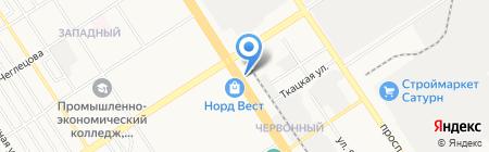 Эрос на карте Барнаула