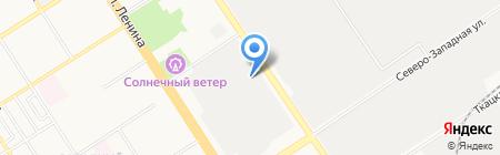 Маиста на карте Барнаула