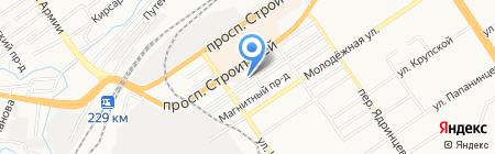 Акация на карте Барнаула