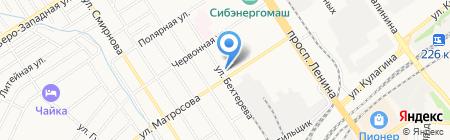 Карамель на карте Барнаула