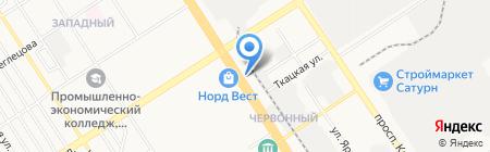 Львёнок на карте Барнаула