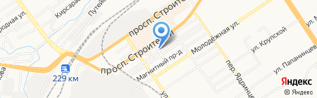 Авер на карте Барнаула