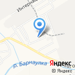 Детский сад №63 на карте Барнаула
