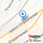 Призывной пункт Военного комиссариата Железнодорожного на карте Барнаула